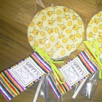 White Chocolate Easter Chick Transfer Lolly