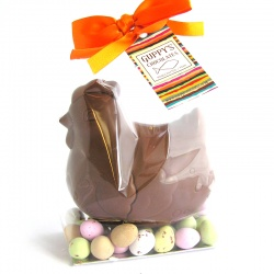 Milk Chocolate Hen with eggs